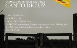 CD e DVD do Canto de Luz serão lançados no dia 20