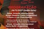 Argentino Mário Bofill faz o show de intervalo da terceira noite do Festival
