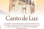 Pré-lançamento de CD e DVD do 1º Canto de Luz acontece nesta quinta