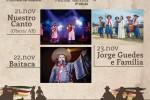 Programação do Canto de Luz contará com três shows
