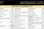 Comissão Executiva divulga as Ordens de Apresentações do Canto de Luz e Lamparina