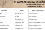 4ª Lamparina da Canção Gaúcha acontece na tarde deste sábado