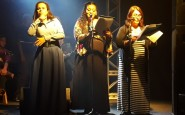 As apresentadoras: Liliana Cardoso, Maria Luiza Benites e Cheila Souza (intérprete)