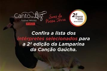 Conheça os classificados da 2a. Lamparina da Canção Gaúcha